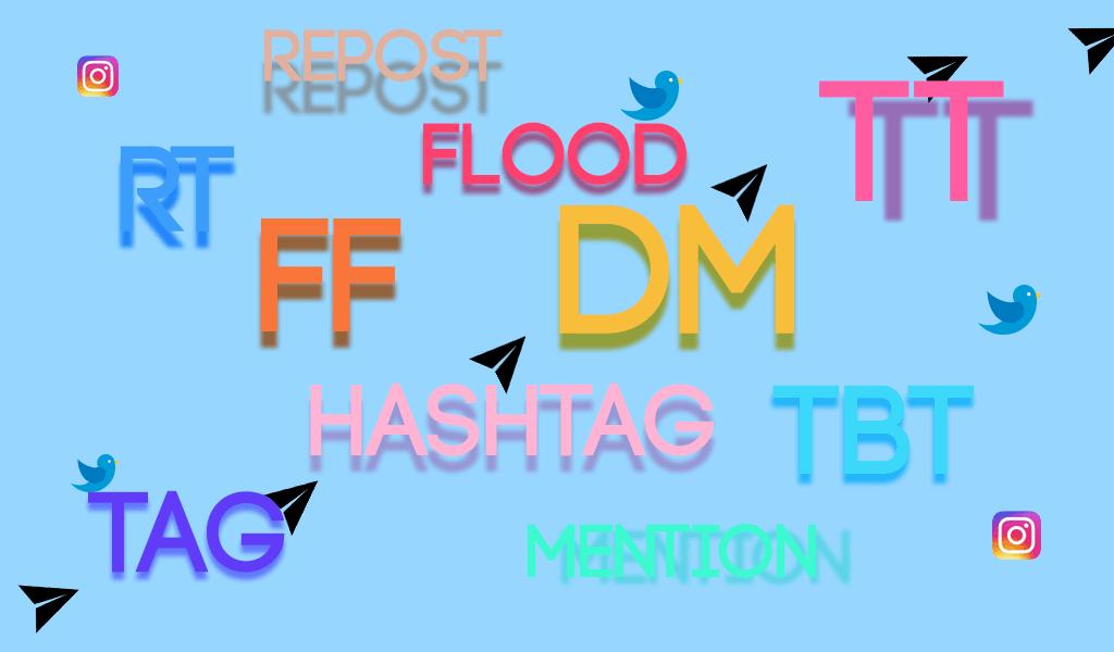 dm, ff, rt, tag, sosyal medya