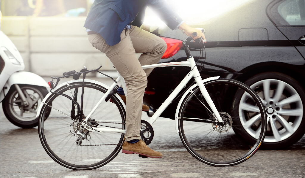 bicycle, car
