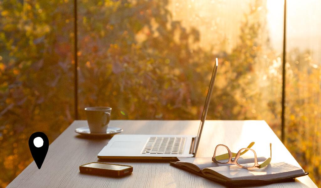 laptop, kahve, gözlük, work