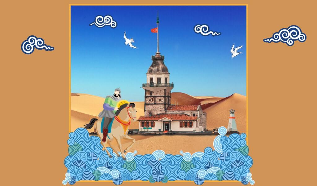 kız kulesi illüstrasyon