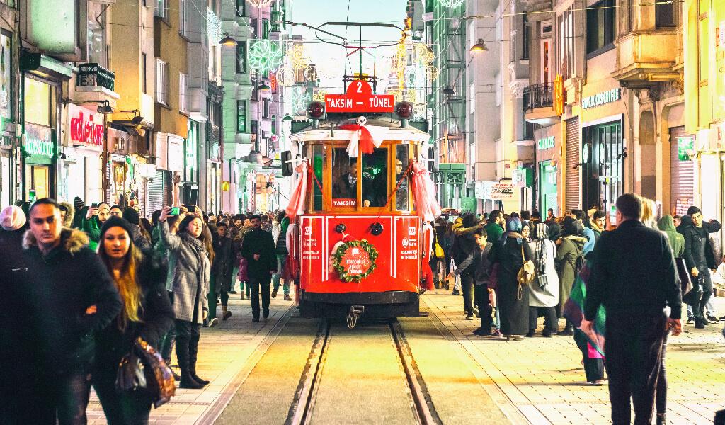 istanbul, taksim tünel tramvayı