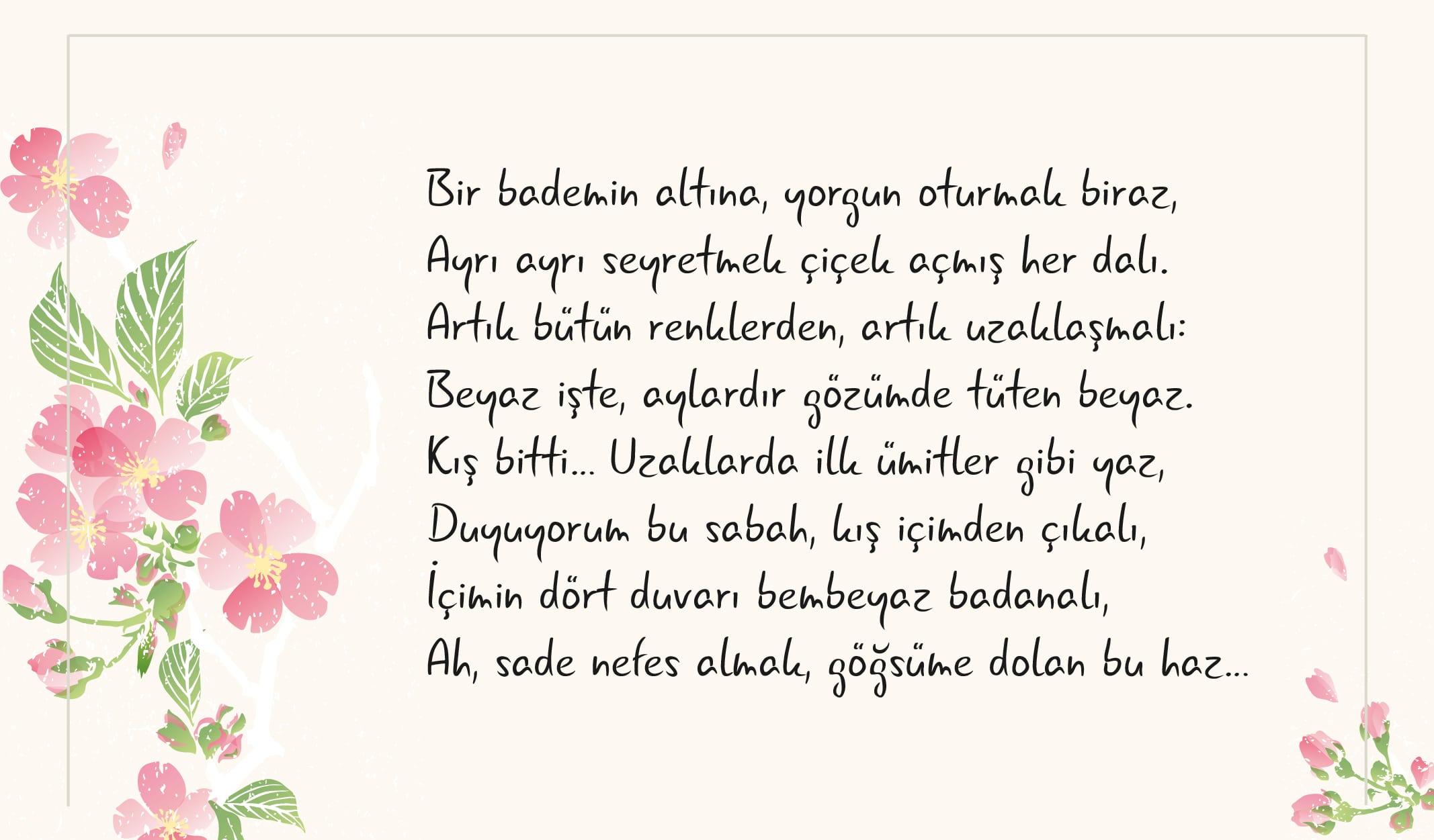 6 şairden 6 Farklı Bahar şiiri Halkbank Kültür Ve Yaşam