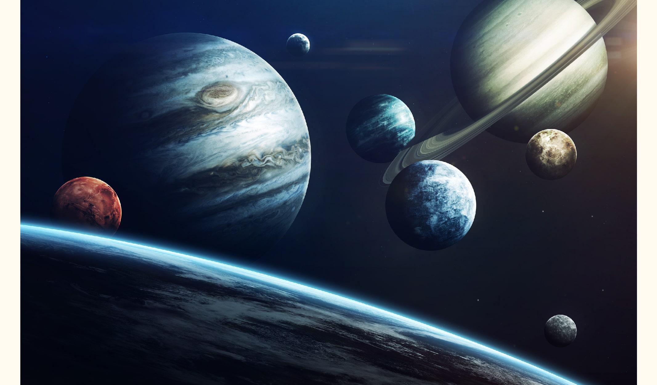 dünya, mars, jüpiter, uranüs