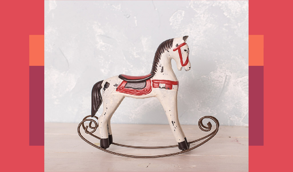 at, ahşap oyuncak